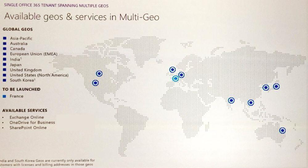 Quoi attendre de la fonctionnalité Multi-Géo (Multi-Régions) dans Office 365 ?